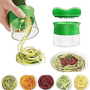 LANGING 1Piezas Cortador en Espiral Manual conpara Hacer Espaguetis de Verduras y Patatas