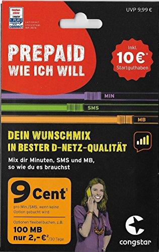 congstar Prepaid Wunsch-Mix 2017