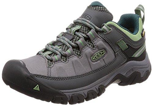 KEEN Targhee Exp WP, Chaussures de Randonnée Hautes Femme, Gris Steel Grey Green Basil Steel Grey Green Basil, 36 EU