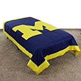 College Covers Michigan Wolverines Comforter, 86' x 96', Team Color