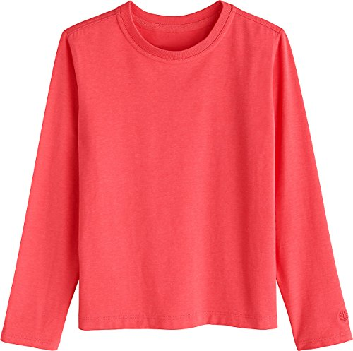 Coolibar UV-Schutz Tee-Shirt à Manches Longues Garçon, Corail, L/10-12 Jahre