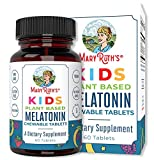 Kids Plant-Based Melatonin Chewable Tablets by MaryRuth's | Kids Vegan Sleep Aid Ages 4+ | Includes Lemon Balm, Valerian Root & Chamomile for Calming & Relaxation | 1 Tablet Per Serving | 60 Tablets