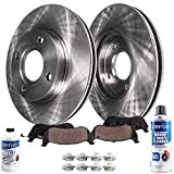 Detroit Axle - Front Disc Rotors + Brake Pads Replacement for Honda Accord Acura CL - 6pc Set