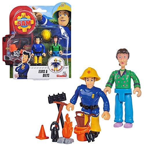 ★ Feuerwehrmann Sam Spielfiguren Set | Simba Toys (Elvis & Dilys)