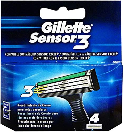 Gillette Sensor3 - Recambios De Maquinillas - 4Unidades