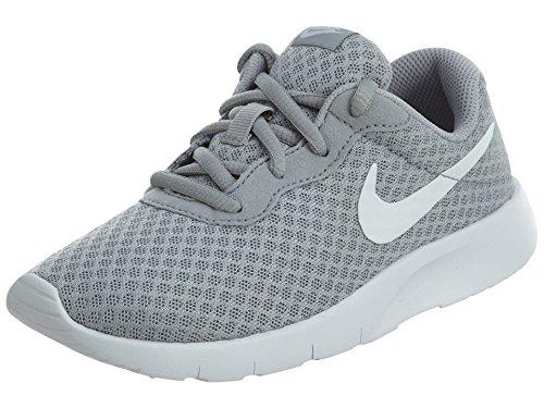 Nike Boys Tanjun Running Sneaker Wolf Grey/White/White 1