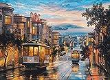 Mini Puzzles de 1000 Piezas en Miniatura DIYpara Adultos Cable Car Heaven de cartón Resistente Desafío de Ejercicio Cerebral Juego de Alta dificultad Regalo para Niño 38 * 26cm