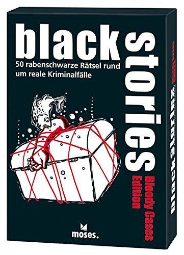 Preisvergleich Produktbild Moses 109723 Black Stories Bloody Cases Edition / 50 rabenschwarze Rätsel / Das Krimi Kartenspiel