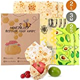 HONEYALLEY Reusable Beewax Food Wrap, 7 Pack Plastic Free Alternative...