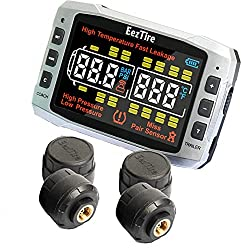 tire pressure monitoring system for towing rv or travel trailer