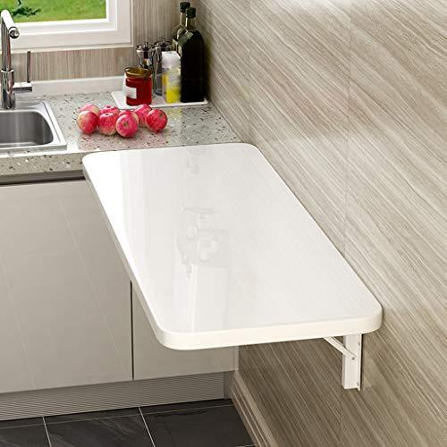 Folding table Wandklapptisch, Kleiner Esstisch für den Haushalt Wandtisch, Küchenklapptisch Einfacher Wand-Esstisch, weiße und gelbe Farben