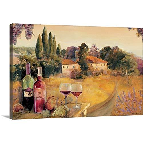 "Spoleto Afternoon Canvas Wall Art Print, 24""x16""x1.25"""