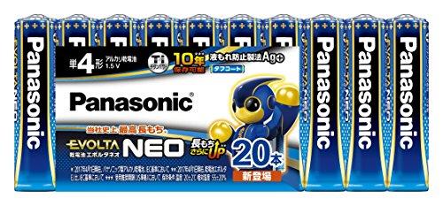 パナソニック エボルタNEO 単4形アルカリ乾電池 20本パック LR03NJ/20SW