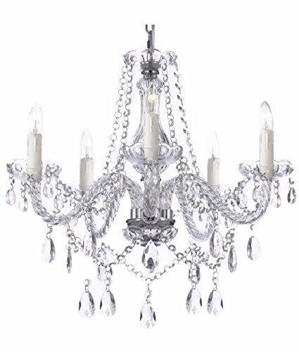 Saint Mossi Modern eigentijds Elegant Echt K9 Kristalglas Kroonluchter Hanglamp Plafondverlichting - 5 lampjes