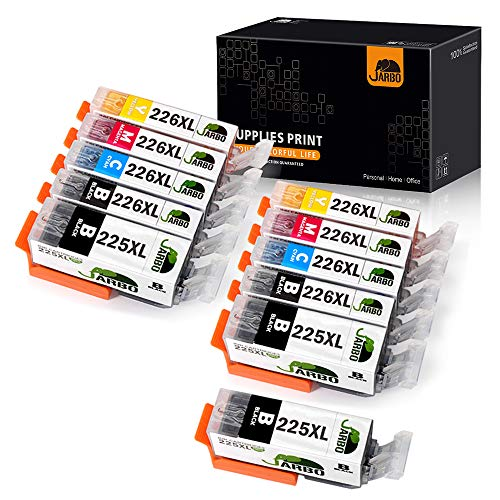 JARBO Compatible Ink Cartridge Replacement for Canon PGI-225XL CLI-226XL 11 Packs (3 PGBK 2 Black 2 Cyan 2 Magenta 2 Yellow) Used in PIXMA MX892 MX882 MG5220 IP4820 IX6520 MG5320 MG6220 MG8220
