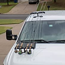 Tight Line Enterprises Magnetic Fishing Rod Racks for Vehicle (Truck or SUV) with Ferrous Metal Hood and Roof