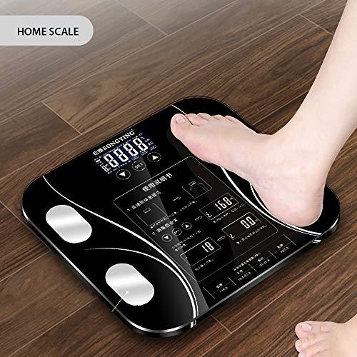 ZUEN Body Index Elektronische Intelligente Waagen Bad Körper Körperfett Bmi Scale Digital Menschliches Gewicht Mi Skalen Boden LCD Display,Black