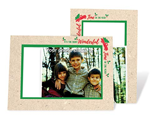 Red Truck Christmas Tree Card - 4x6 Photo Insert Note Cards - 24 Pack by Plymouth Cards