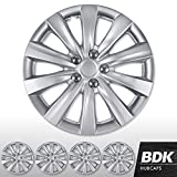 BDK 16' Inch Hubcaps Set of 4 Automotive Wheel Tire Covers Accessories, Compatible/Replacement for Chevy Chevrolet Dodge Ford Honda Mazda VW Volkswagen and More