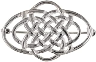 London Jewellery Quarter Plata Maciza Broche Diseño Celta Contraste
