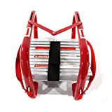 Fire Escape Ladder, 5&6 Story Emergency Portable Safety Reusable Ladder for Adults & Kids with Anti-Slip Rungs and Wide Steps V Center Suitable for Windows and Balcony|50-Foot