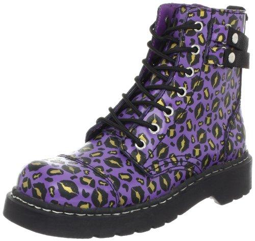 T.U.K. Damen Stiefel T2186, Violett (violett/schwarz), 36 EU