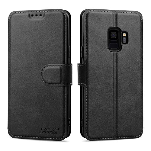 Keallce für Samsung Galaxy S9 Hülle, Handy Lederhülle PU Leder Hülle Brieftasche Handytasche Cover Kompatibel für Samsung Galaxy S9 Ledertasche-5.8