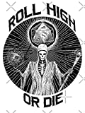 D20 Reaper - Roll High Or Die D&d - Dungeons & Dragons - Peel and Stick - Sticker Graphic - Die Cut Vinyl