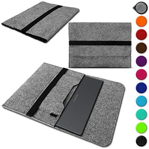 Sleeve Hülle kompatibel für Medion Akoya E3222 Schutzhülle Filz Tasche Laptop Cover Notebook Case 13.3 Zoll, Farbe:Hell Grau