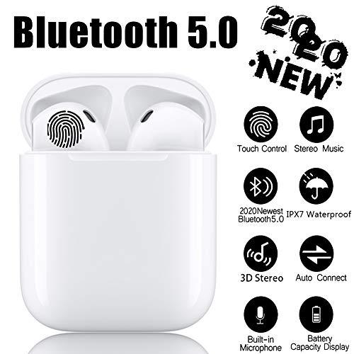 Bluetooth-Kopfhörer 5.0, kabellose Touch-Kopfhörer HiFi-Kopfhörer In-Ear-Kopfhörer Rauschunterdrückungskopfhörer, Tragbare Sport-Bluetooth-Funkkopfhörer, Für Apple Android iPhone 11 AirPods Pro-Weiß