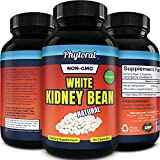White Kidney Bean Energy Supplements - Pure White Kidney Bean Extract Pill with Amylase Enzyme and Natural Energy Pills for Fatigue - Potent and Natural Vegetarian Supplements for Women and Men