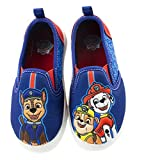 Paw Patrol Toddler Shoes,Easy Slip On Sneakers with Chase Marshall Rubble,Blue,Toddler Size 10