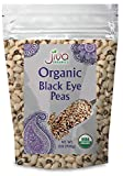Jiva Organics Organic Black Eye Peas 2 Pound Bag - Cowpeas, Non-GMO, Natural