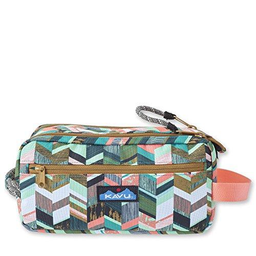 KAVU Grizzly Kit Accessory Bag Padded Lightweight Travel Case - Coastal Blocks