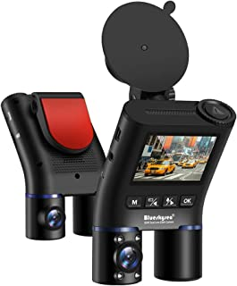 Blueskysea B2W Dual Lens Dash Cam Compatible for Uber Taxi, Infrared Night Vision Car Camera Full HD 1080P Front and Insid...