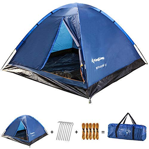 KingCamp Monodome Dome Tent Lightweight & Durable 3 Man Tents Breathable Portable for Camping Fishing
