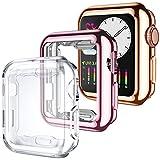 Dirrelo 3 Pack Coque Compatible avec Apple Watch Series 3/2/1 38mm, Protecteur D'écran Couverture...