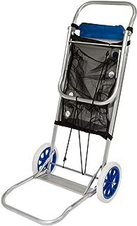 comprar comparacion Aktive 53928 Carro portasillas playa aluminio Beach, 52 x 37 x 105 cm