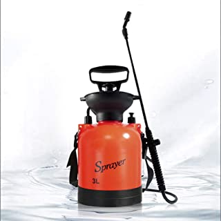 Gigibon Lawn and Garden Sprayer 3-Litre Compression Sprayer Portable Pump Pressure Tank with Shoulder Strap for Gardening, Fertilizers, Cleaning