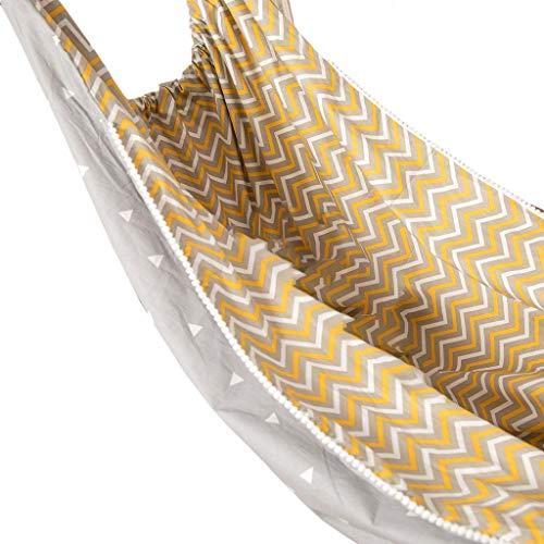 Shefii - Hamaca para niños con columpio para interiores y exteriores, cesta para colgar en tela de algodón