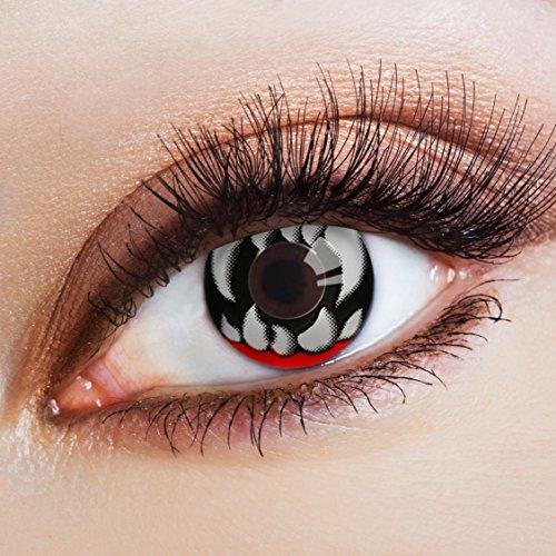 aricona Kontaktlinsen - farbige Horror Halloween Kontaktlinsen - effektvolle Motivlinsen für Halloween & Kostüm-Partys