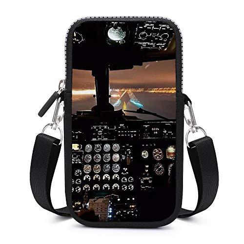 Handy-Geldbörse, Crossbody mit abnehmbarem Schultergurt, Flugzeug-Controller, verschleißfeste Tasche für Schlüssel, Handgelenk, Geldbörse, Fitnessstudio, Fitness-Taschen für Herren