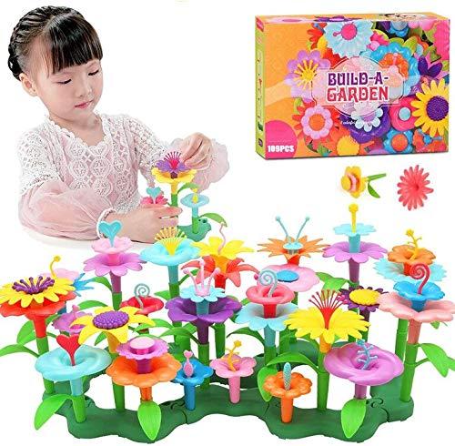 フラワーブロック 花 おもちゃ 立体パズル プラスチック 知育玩具 組み合わせ はめこみ 組み立て 積み木 おしゃれ 知育 おもちゃ ままごと ごっこ遊び DIY 組み立てセット 子供の工芸品 女の子 男の子 6+ プレゼント ラッピング こどもの日 女の