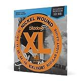 D'Addario EXL110BT - Cuerdas con Entorchado En Níquel para Guitarra Eléctrica, Regular Blandas con Tensión Equilibrada, 10-46, Plateado