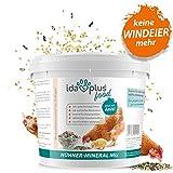 Ida Plus – Hühner-Mineral-Mix 5 Kg – einzigartige Futterkalk Mineralstoffmischung mit Anis – wertvollen Mineralien für bessere Eierschalenqualität – enthält Muschelkalk & Calcium – für Hühner & Küken