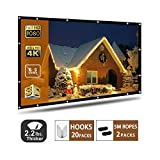 Projector Screen 120 Inch,Portable Projection Screen 16:9 HD 4K Foldable for Home Theater Cinema Indoor...