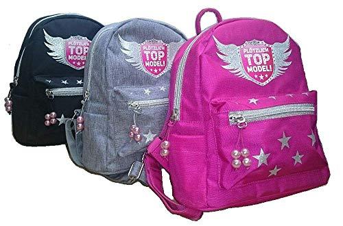 Maro Toys Teenager Mädchen Adventskalender, Türmatte, Rucksack, Turnbeutel Plötzlich Topmodel (Rucksack-grau)