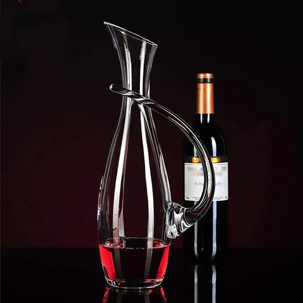 温度強打平行HY 赤ワインデカンタ高速デカンタクリスタルガラスベルト赤ワインデカンタデカンタ A+ (色 : D)
