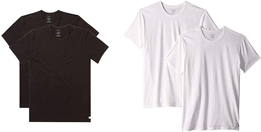 Calvin Klein Men's Undershirts Cotton Multipack Clearance SALE Limited time Stretch 40% OFF Cheap Sale Crew Nec