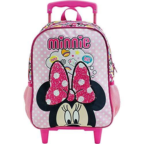 Mala Escolar com Rodinhas 16, Minnie, 8930, Rosa